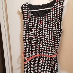 Jessica Howard Sleeveless Belted Dress Size 12 Q12
